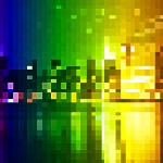 Pixelated PowerPoint Background
