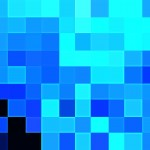 Pixelated Blue PowerPoint Background 2