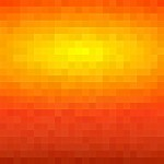 Pixelated Orange PowerPoint Background1