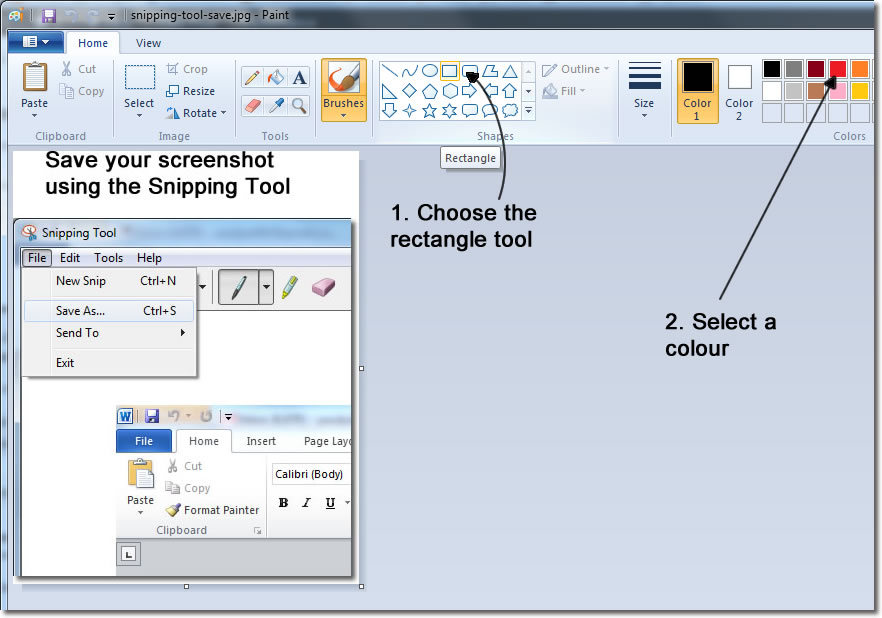 snipping tool | Office Tutorials